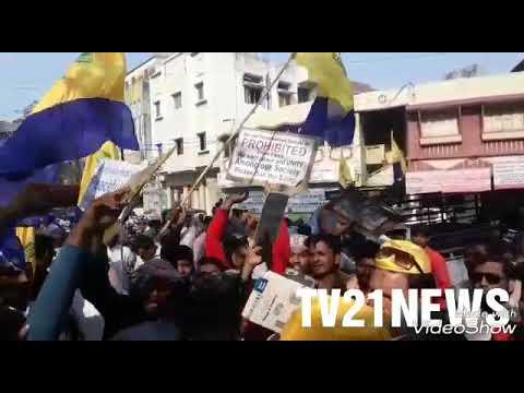 Seerat Un Nabi Academy Rally Demand Band Oru Adhaar Love Film. Big Protest At Dcp South zone office