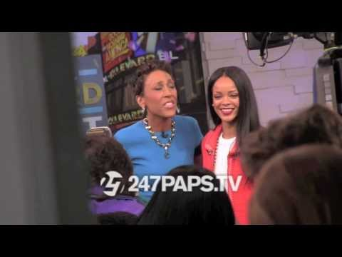 Rihanna Being Interviewed By Robin Roberts In New York City 01-29-14