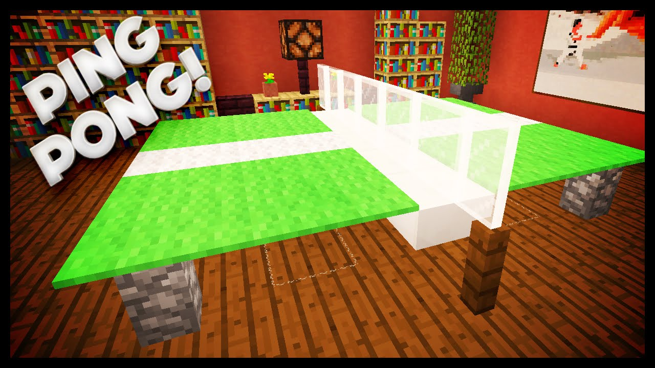 Minecraft how to build a ping pong table youtube for How to build a billiard table
