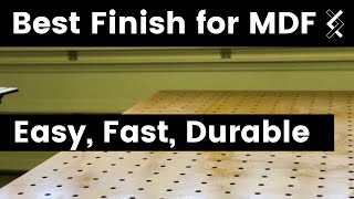 How to Finish MDF Workbench — How to Woodworking