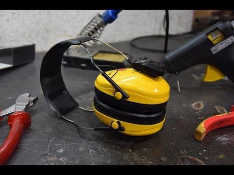 DIY   Bluetooth Audio Ear Protection