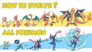 How To Evolve AĮl Pokémon Gen 1 - Gen 8 (Galar) 2020 (Animated Sprites)