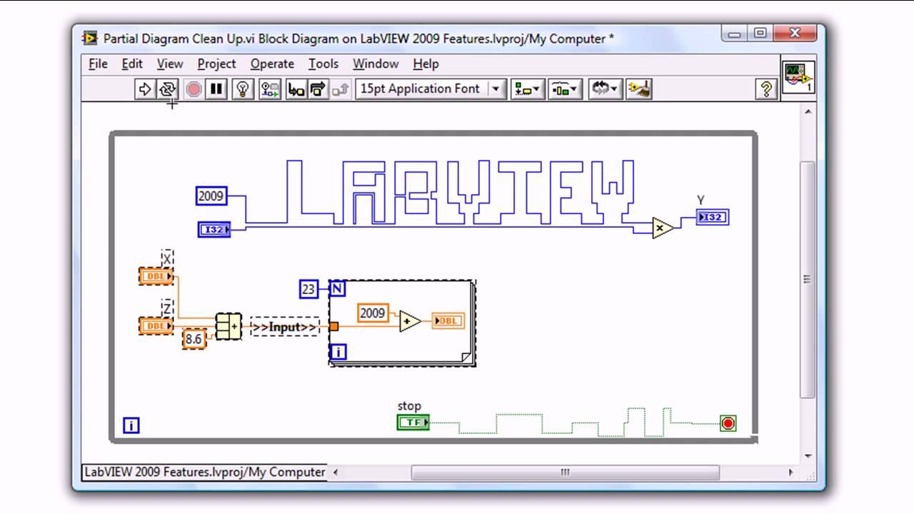 ni labview 2009 block diagram clean up [ 1280 x 720 Pixel ]