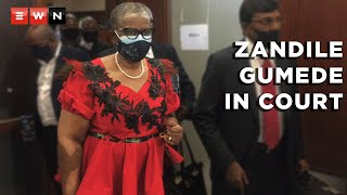 Former eThekwini Mayor Zandile Gumede returned to the Durban High Court on 14 June 2021.  Gumede and 21 others face a number of charges, including fraud and corruption.