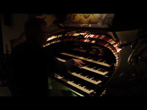 "John Lauter Plays ""I thought about you"" on the Fisher/Senate Wurlitzer theatre pipe organ"