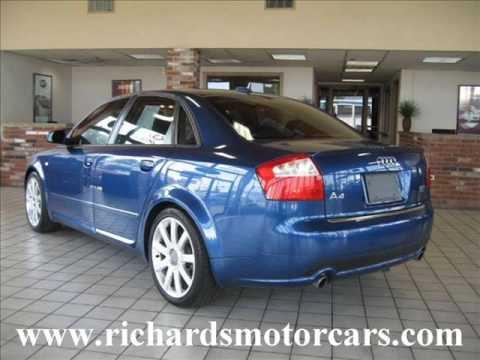 2005 audi a4 1 8t quattro sedan awd blue youtube. Black Bedroom Furniture Sets. Home Design Ideas