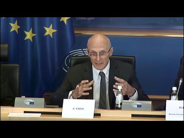 Mi intervención y respuesta de Andrea Enria, Banco Central Europeo
