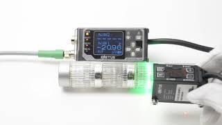 49525 オプテックス・エフエー レーザ変位センサとアンプのセット CD22-35-485M12+CDA-M thumbnail