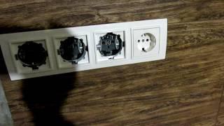 Установка и Подключение Блока Розеток на Кухне Своими Руками. Setting outlet(, 2016-05-15T18:12:28.000Z)