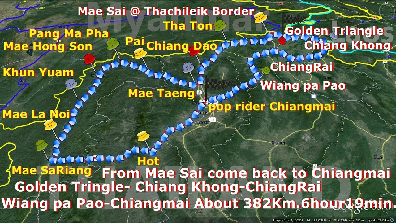 Map Chiangmai MaeHongSonChiangRai YouTube