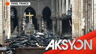 Natupok na Notre Dame Cathedral
