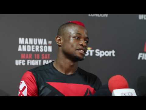 Post Fight Media Scrum with Marc Diakiese at UFC London