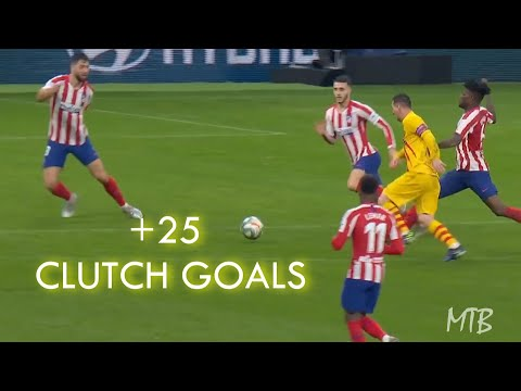 Lionel Messi ● +25 CLUTCH Late Minute Goals ● With Commentaries