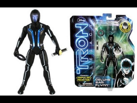 Tron Legacy Deluxe Sam Flynn Amp Clu Action Figure Movie Toy