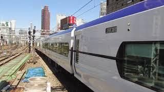 中央線E353系特急あずさ8号東京行新宿駅到着