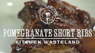 Pomegranate Molasses Braised Short Ribs • {Kitchen Wasteland} •Joel Gamoran