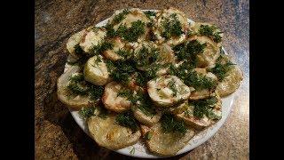 Жареные кабачки с чесноком и укропом