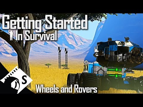 Wheels And Rovers - Getting Started In Space Engineers #4 (Survival Tutorial Series)