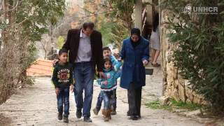 Lebanon: Syrian family prepares for a new life in the United States