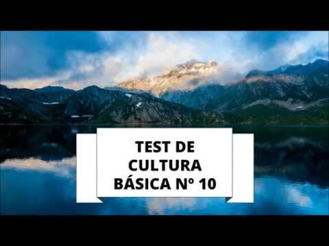 TEST DE CULTURA GENERAL 10 (NIVEL BÁSICO)