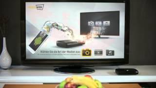 VideoWeb TV Box - Android Viewer - Bilder, Musik und Filme vom Smartphone auf den Fernseher.