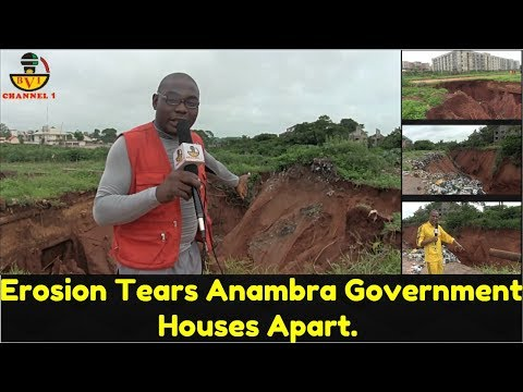 Biafra: Erosion Tears Anambra State Government Houses Apart.