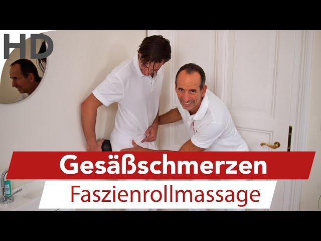 Hüftschmerzen bis ins Gesäß // Übungen mit der Faszienrolle