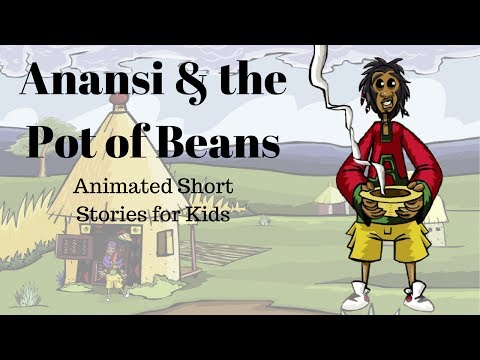 picture relating to Printable Anansi Stories named Anansi and the Pot of Beans (Animated Reports for Small children