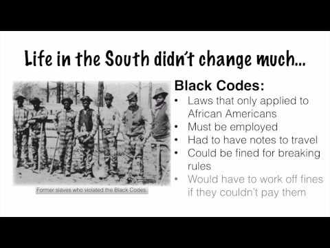 The Reconstruction Era - Part II