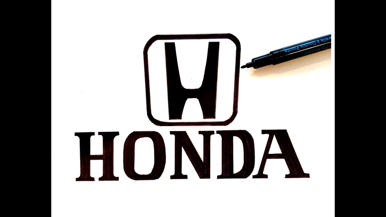 How To Draw The Honda Logo