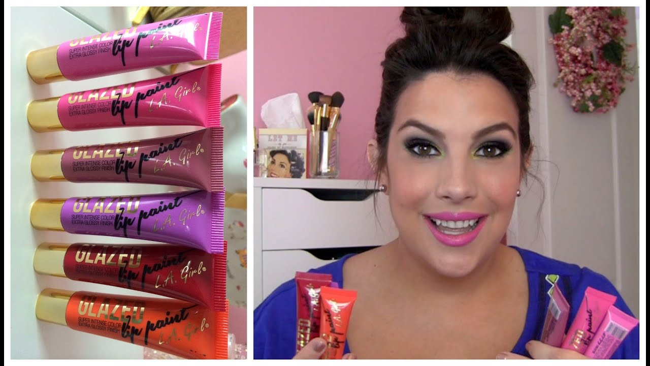 L A Girl Glazed Lip Paint Review YouTube