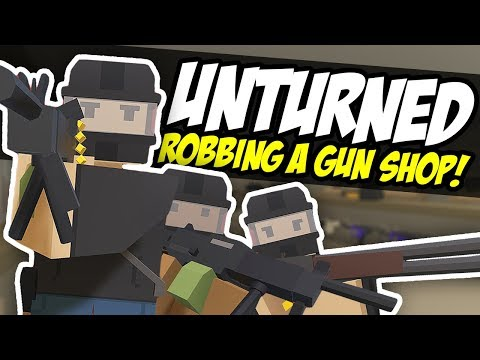 ROBBING A GUN SHOP - Unturned Bandit Roleplay | Military Show Up! thumbnail