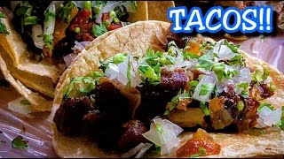 AMAZING MEXICAN STREET FOOD!! LOCAL STREET TACO STAND!! AUTHENTIC! THE REAL DEAL!!