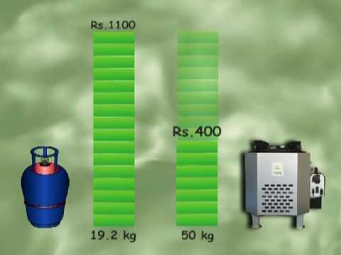 Save LPG gas costs, 50%+.   Save kitchen fuel cost.  Use Oorja Jumbo Biomass Pellet Stove.