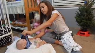 Changing Reborn Baby Gabe & Silliness With Zeus/Gerald In Nursery!