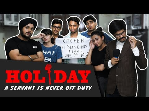 HOLIDAY - A Servant Is Never Off Duty || The Adult Society