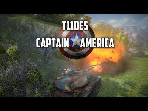 World of Tanks - T110E5 Tier 10 Heavy Tank - Captain America
