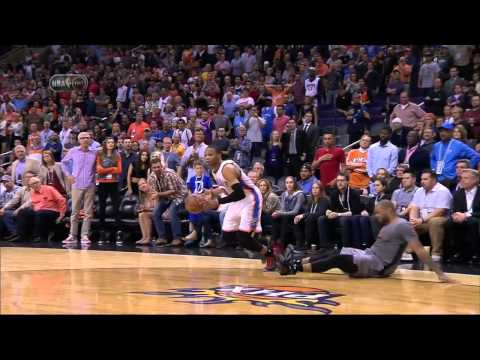 Russell Westbrook Injury | Thunder vs Suns | February 26, 2015 | NBA 2014-15 Season