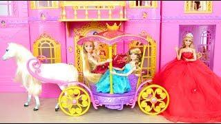 Princess Pink Castle Morning Routine Poupée Istana putri لعبة باربي prinzessin palast Princesa