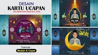Desain Kartu Ucapan Selamat Hari Raya Idul Fitri 1441 H  (free Cdr)   Coreldraw Tutorial