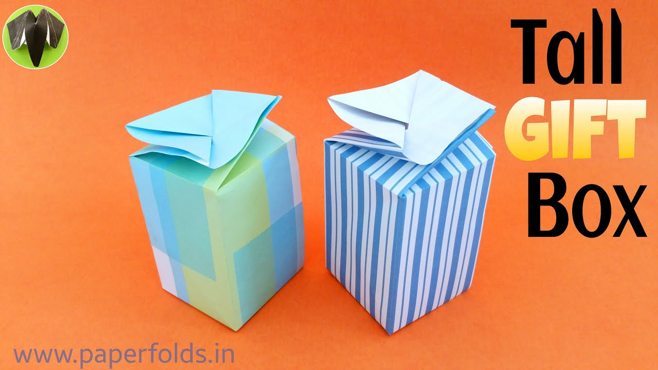 origami tutorial to make a paper quotconcealed tall gift box