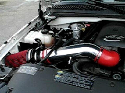 Cold Air Intake For Chevy Silverado 1500 >> Chevy Silverado Truck High Flow Air Intake Installed Sound Clip