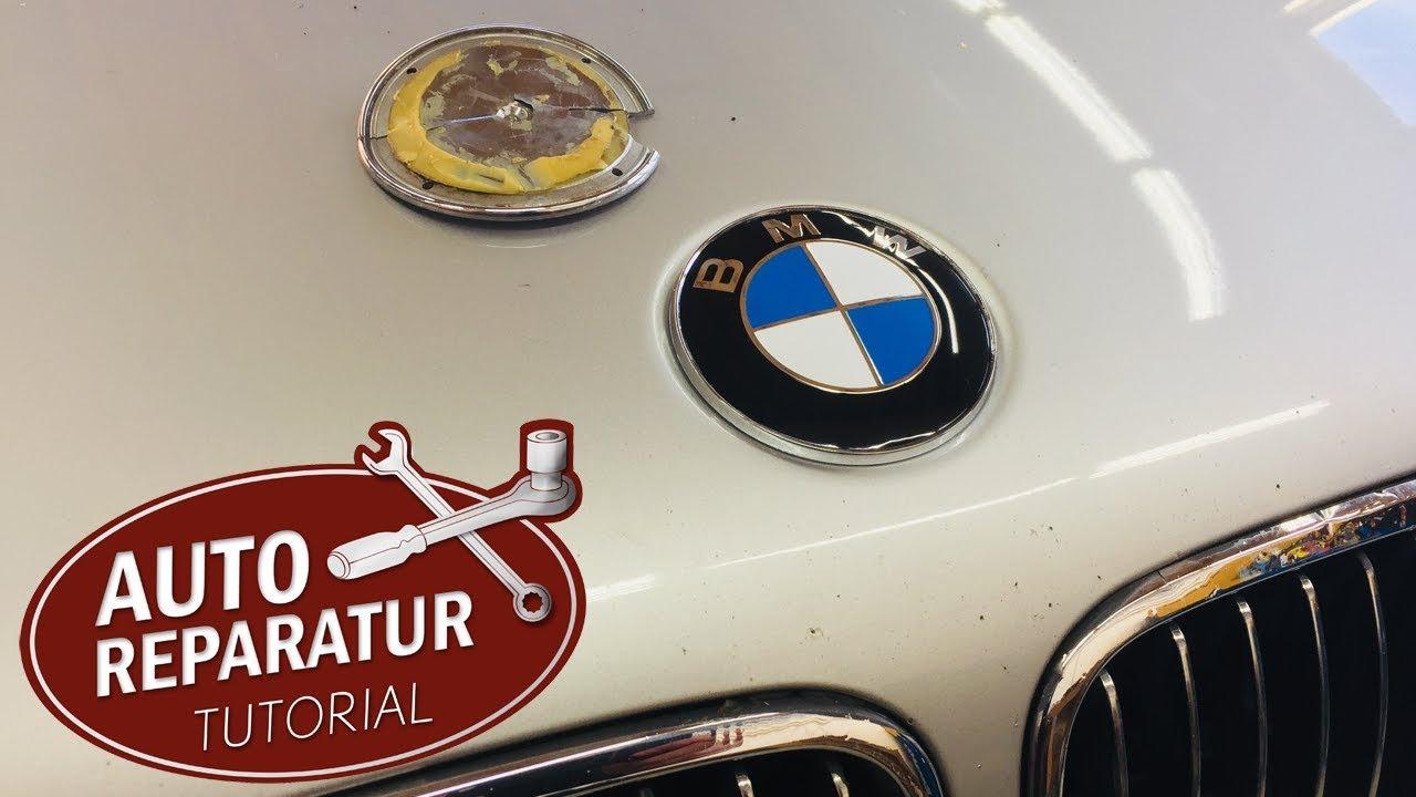 bmw emblem motorhaube wechseln | diy tutorial - youtube