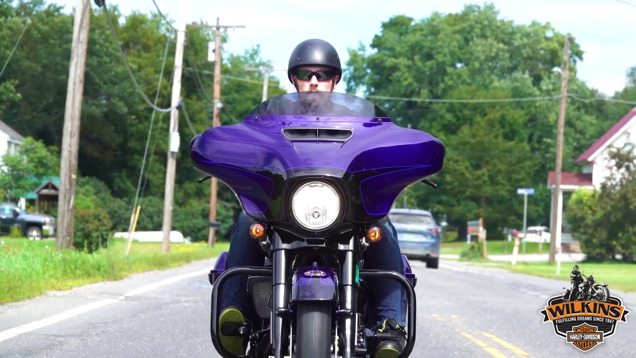 The Wolf riding a 2020 Street Glide Special in Zephyr Blue ...