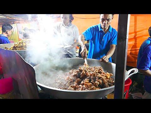 Jakarta Street Food - HUGE Indonesian Lamb Fried Rice for 100 People / Nasi Goreng Kambing / Biryani