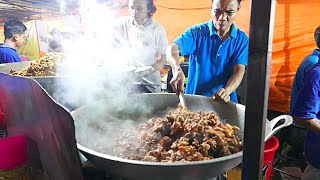 Jakarta Street Food - HUGE Indonesian Lamb Fried Rice for 1000 People/ Nasi Goreng Kambing / Biryani