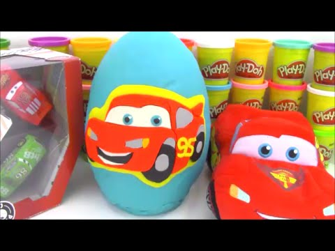Thumbnail: Disney Cars Giant Playdoh Surprise Egg with Big Hero 6 Minecraft Toys and More!