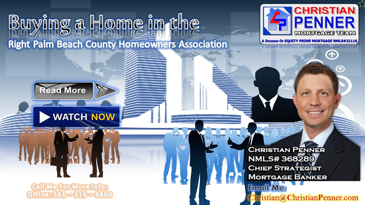 Buying a Home in the Right Palm Beach County Homeowners