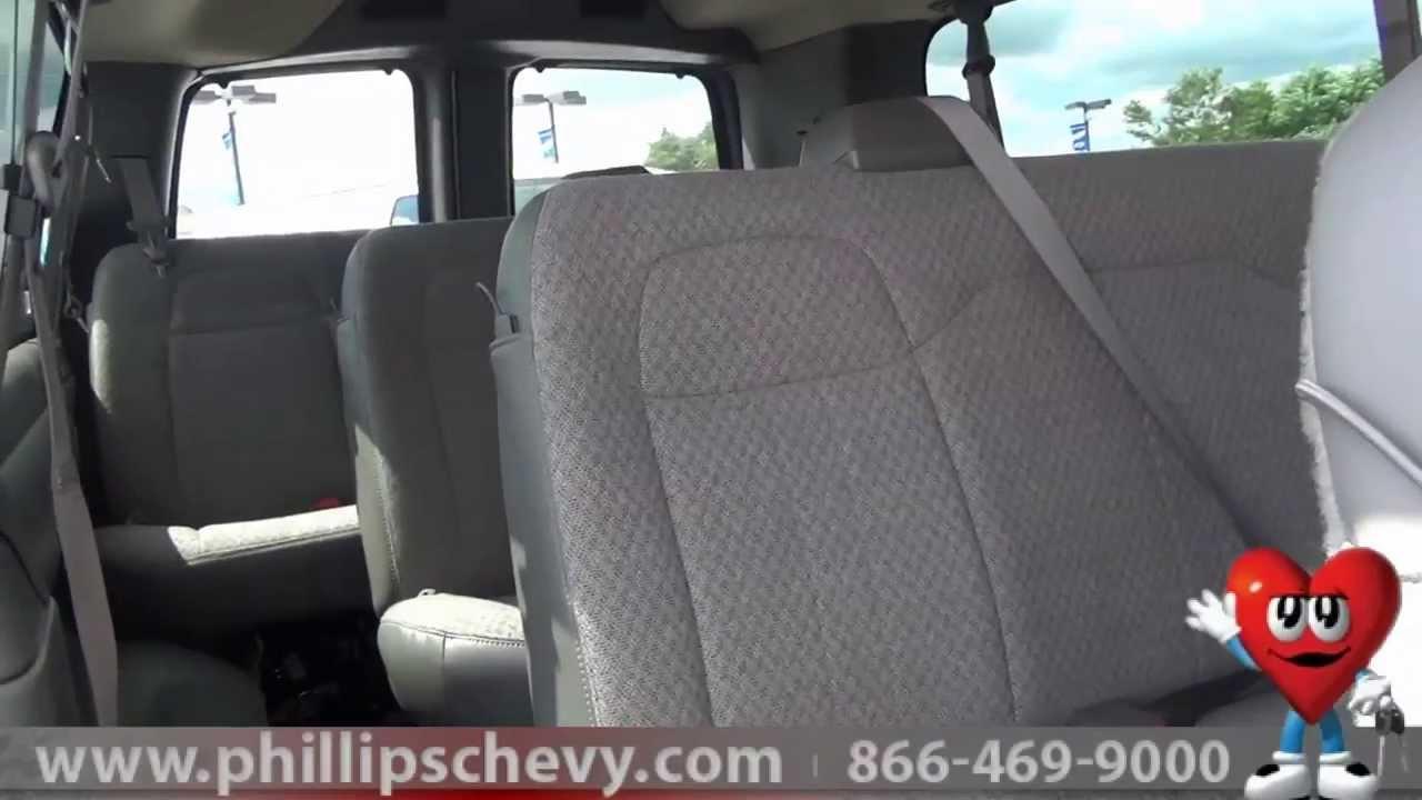 phillips chevrolet 2013 chevy express passenger van walkaround chicago new car dealership [ 1280 x 720 Pixel ]