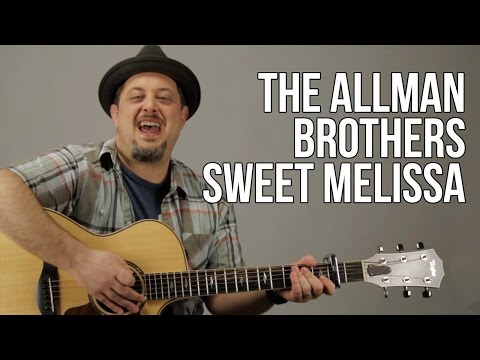 Allman Brothers - Sweet Melissa Acoustic Guitar Lesson - How to Play on Guitar